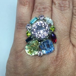 Wow!  Amazing rhinestone ring.